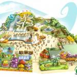 comunicazione: disegno parco a tema / communication: draw amusement park